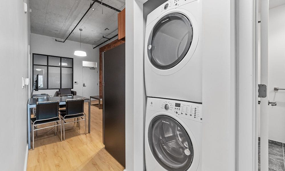 In-unit washer and dryer in an apartment at Union on 5th