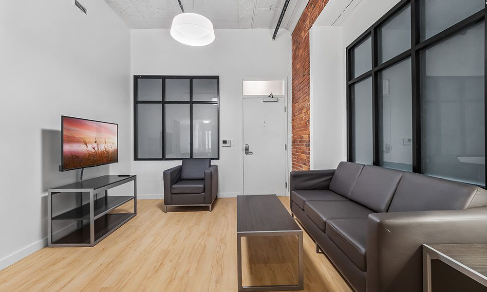 Common area in an apartment at Union on 5th